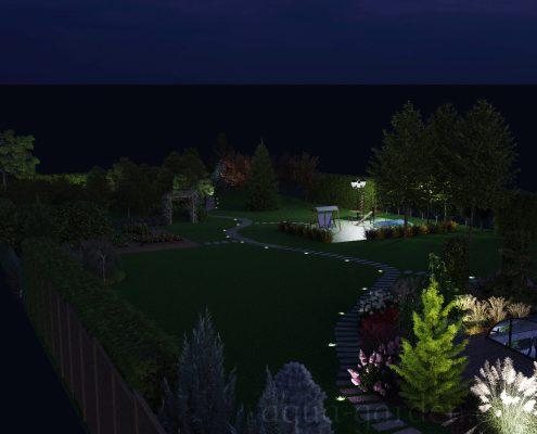 Проект дизайна с освещением