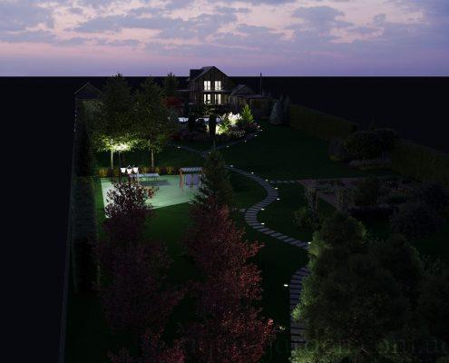 Визуализация вечернего освещения