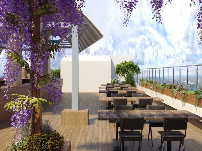 Благоустройство и дизайн интерьера ресторана под открытым небом