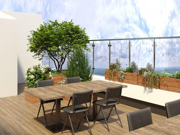 Дизайн-проект ресторана с открытой террасой
