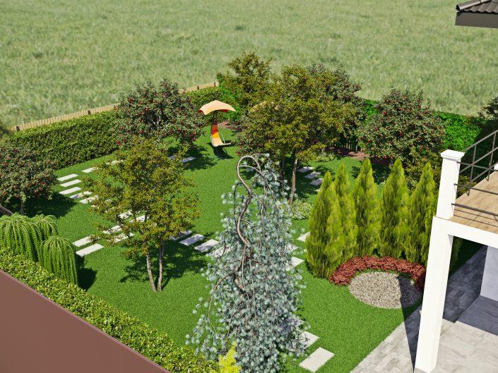 Визуализация большого сада