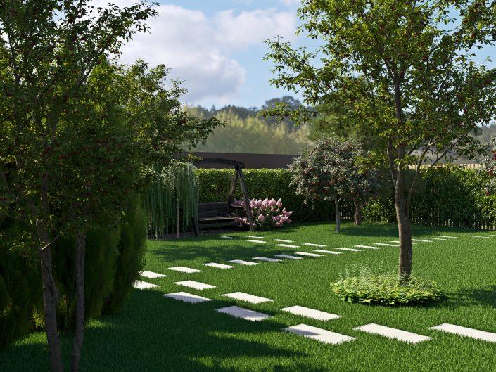 Озеленение участка рулонным газоном