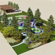 Ландшафтный дизайн участка с детской площадкой