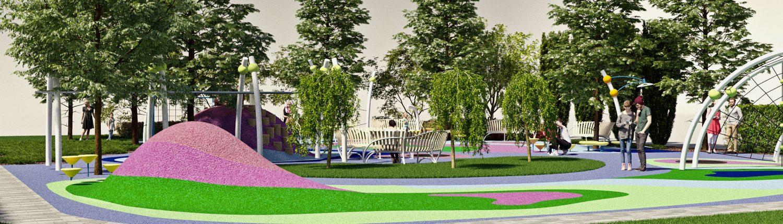 Рельефная детская площадка во дворе