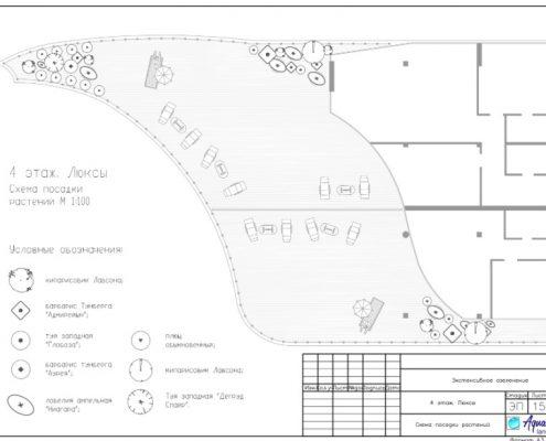 Ландшафтное проектирование гостиницы: 2 этаж