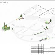 План территории ландшафта на этаже
